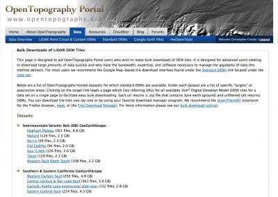 New OpenTopography Feature Bulk DEM Download OpenTopography - Dem download